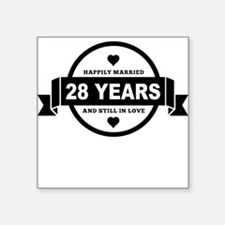 Happily Married 28 Years Sticker