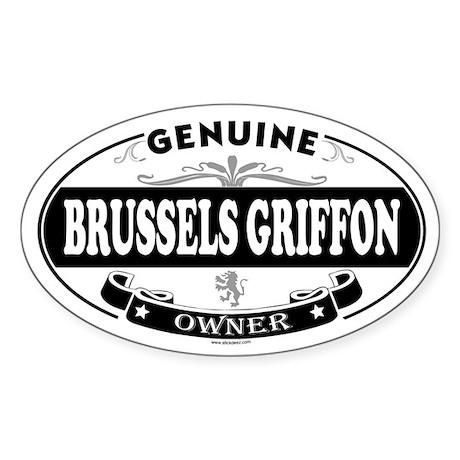 BRUSSELS GRIFFON Oval Sticker