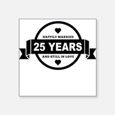 Happily Married 25 Years Sticker