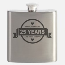 Happily Married 25 Years Flask