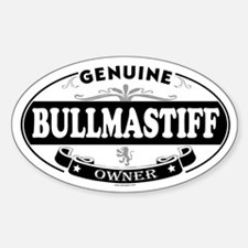 BULLMASTIFF Oval Decal