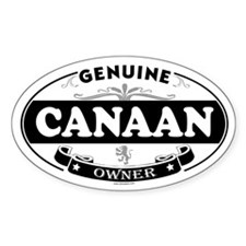 CANAAN Oval Decal