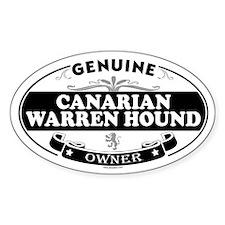 CANARIAN WARREN HOUND Oval Decal