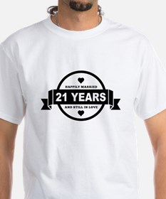 Happily Married 21 Years T-Shirt
