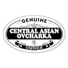 CENTRAL ASIAN OVCHARKA Oval Decal