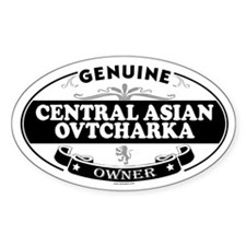 CENTRAL ASIAN OVTCHARKA Oval Decal