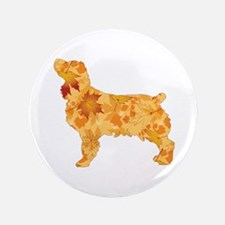 Brown Dog Fall Button