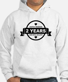 Happily Married 2 Years Hoodie