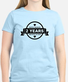 Happily Married 2 Years T-Shirt