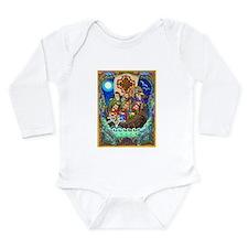 Unique Artistic Long Sleeve Infant Bodysuit