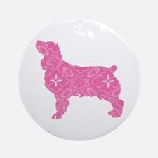 Brown Dog Fall Round Ornament