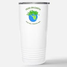 Peas On Earth Stainless Steel Travel Mug