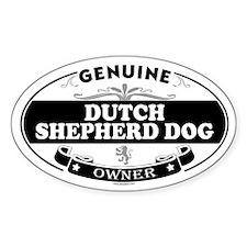DUTCH SHEPHERD DOG Oval Decal