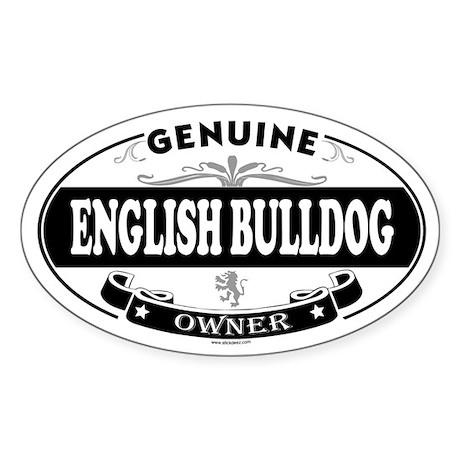 ENGLISH BULLDOG Oval Sticker
