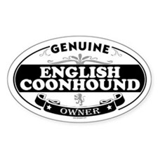 ENGLISH COONHOUND Oval Decal