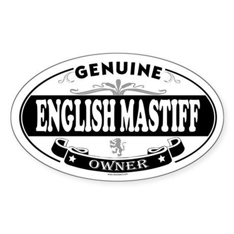 ENGLISH MASTIFF Oval Sticker