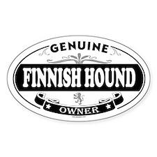 FINNISH HOUND Oval Decal