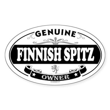 FINNISH SPITZ Oval Sticker