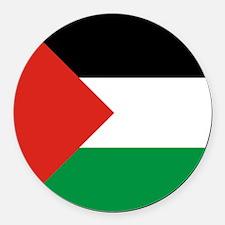 Square Palestinian Flag Round Car Magnet