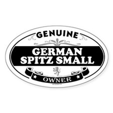GERMAN SPITZ SMALL Oval Decal