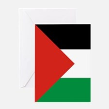 Square Palestinian Flag Greeting Cards