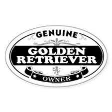 GOLDEN RETRIEVER Oval Decal