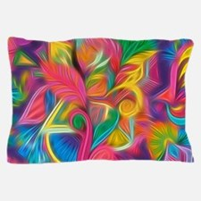 Psychedelic Painted Floral Arrangement Pillow Case