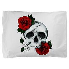 Skull And Roses Pillow Sham