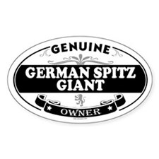 GERMAN SPITZ GIANT Oval Decal