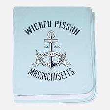 Wicked Pissah, Boston MA baby blanket