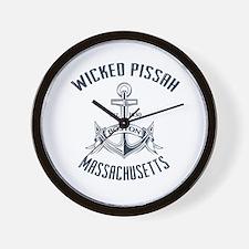 Wicked Pissah, Boston MA Wall Clock