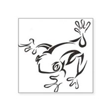 "Cute Lizard Square Sticker 3"" x 3"""