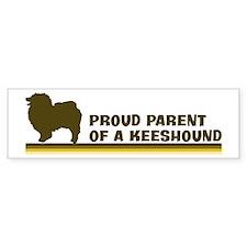 Keeshound (proud parent) Bumper Bumper Bumper Sticker