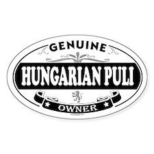 HUNGARIAN PULI Oval Decal