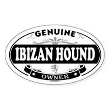IBIZAN HOUND Oval Decal