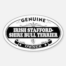 IRISH STAFFORDSHIRE BULL TERRIER Oval Decal