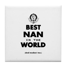 The Best in the World – Nan Tile Coaster