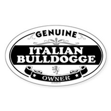 ITALIAN BULLDOGGE Oval Decal