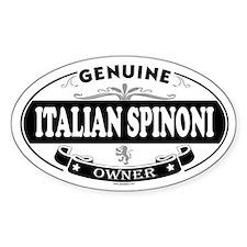 ITALIAN SPINONI Oval Decal