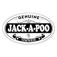 JACK-A-POO Oval Decal