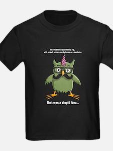 hipster nerd unicorn with mustache T-Shirt