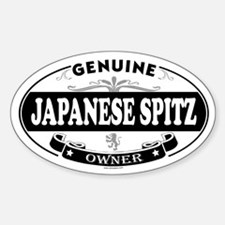 JAPANESE SPITZ Oval Decal
