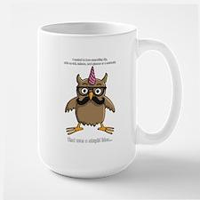 hipster nerd unicorn with mustache Mugs