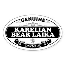 KARELIAN BEAR LAIKA Oval Decal
