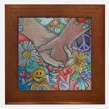 Choose Peace Framed Tile