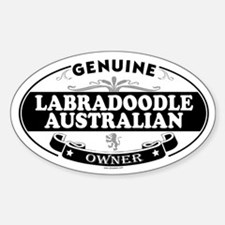 LABRADOODLE AUSTRALIAN Oval Decal
