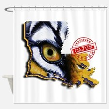 Certified Cajun Tiger Eye LA Shower Curtain