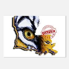 Certified Cajun Tiger Eye Postcards (Package of 8)