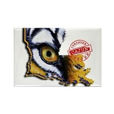 Certified Cajun Tiger Eye LA Magnets