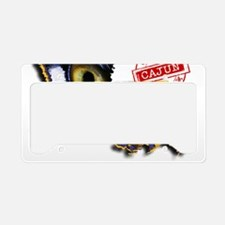 Certified Cajun Tiger Eye LA License Plate Holder